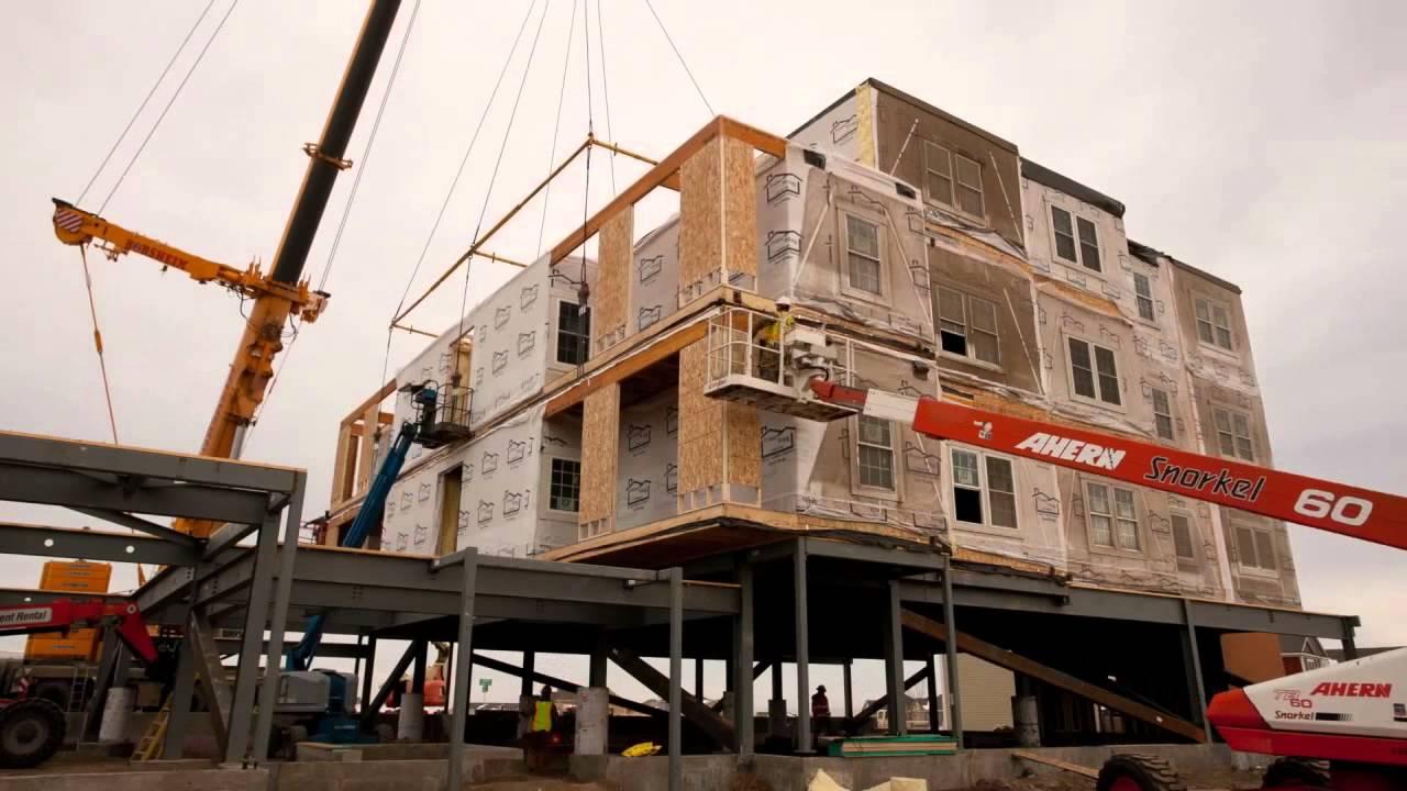 Modular Apartment Building in Williston, ND - Timelapse