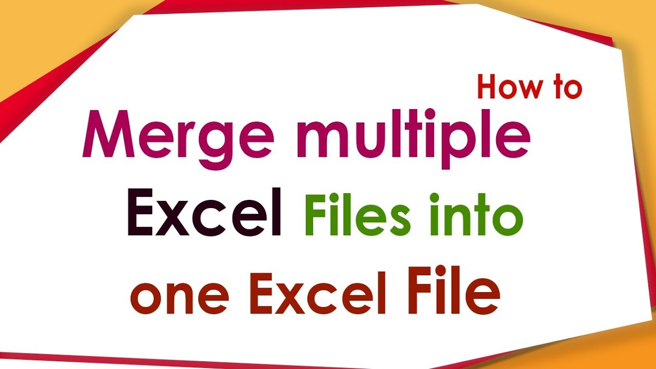Workbooks merge excel sheets into one workbook : How to Merge Multiple Workbooks Into One Workbook? - YouTube