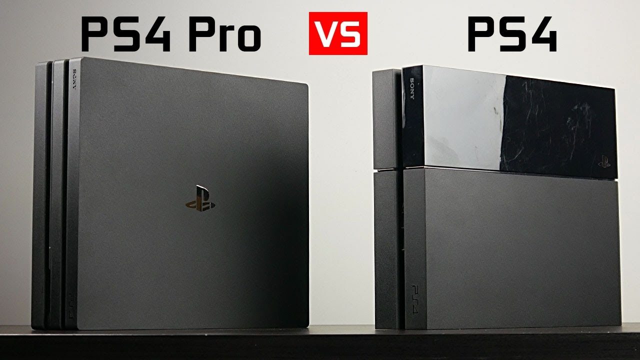Playstation 4 Pro Vs Playstaion 4 Youtube