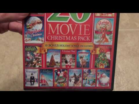 20 Movie Christmas Pack DVD Unboxing
