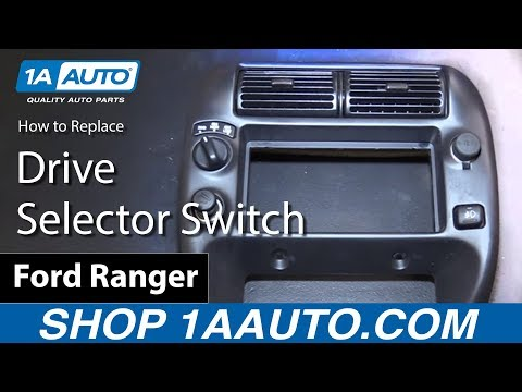 How To Replace Four Wheel Drive Selector Switch 98-12 Ford Ranger
