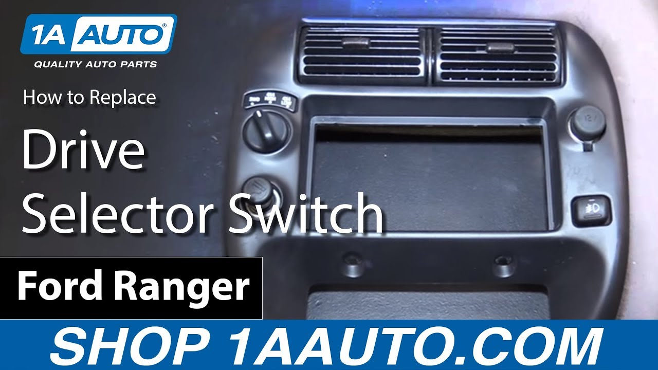 How To Replace Four Wheel Drive Selector Switch 98 12 Ford Ranger F 350 Dash Lights Wiring Diagram