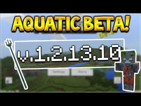 MCPE AQUATIC BETA! - Minecraft Pocket Edition NEW Ocean Update (1.3 Beta)