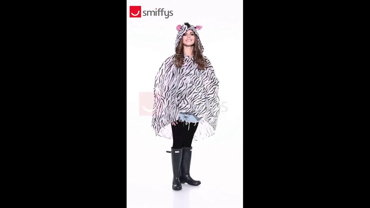 Zebra Party Poncho Festival Costume (43893)