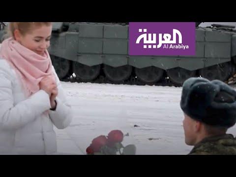 16 دبابة عسكرية في حفل خطوبة روسي على حبيبته  - نشر قبل 7 ساعة