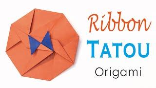 Origami Paper Ribbon Bow Tatou Envelope 🎀 Tutorial - Origami Kawaii〔#168〕