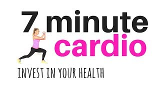 TOTAL BODY CARDIO WORKOUT  7 minute home fitness workout routine - total body  to burn fat & tone