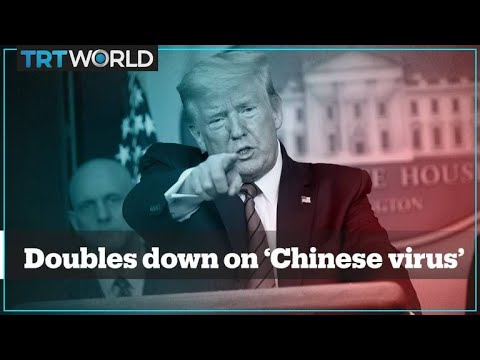 Trump doubles down on calling coronavirus the 'Chinese virus' US President Trump doubled down on calling the coronavirus the .Chinese virus. during a briefing in the White House, where journalists asked him about the ..., From YouTubeVideos
