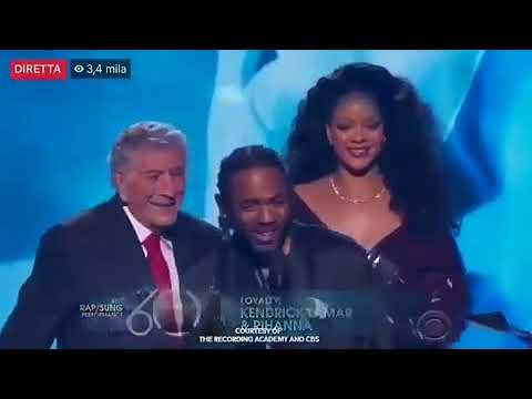 Kendrick Lamar Wins Award For Loyalty @ Grammy Award 2018