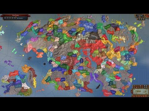 Europa Universalis 4 AI Timelapse - Elder Scrolls Universalis Mod 266-2000 |