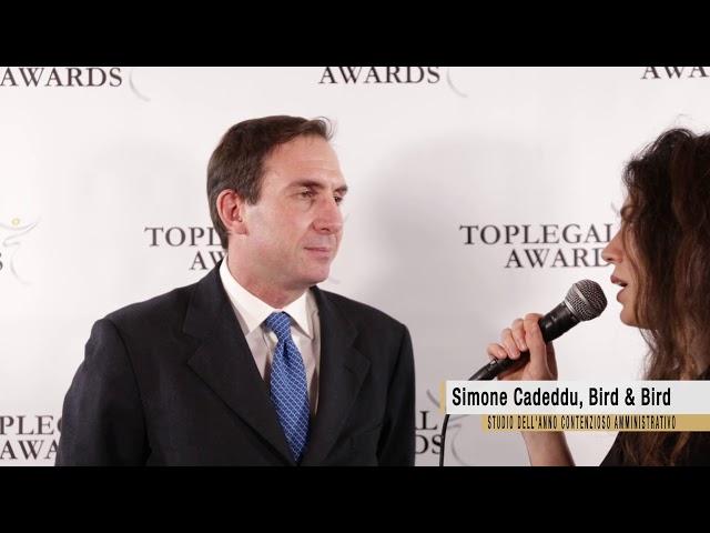 Simone Cadeddu, Bird&Bird - TopLegal Awards 2018