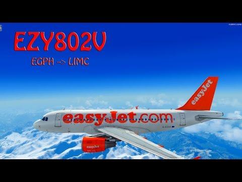 P3D V3 | VATSIM | Edinburgh - Milan | EZY802V | Full Flights