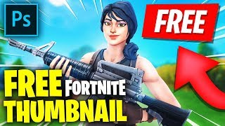 FREE FORTNITE THUMBNAIL *DOWNLOAD* [PSD FILE]
