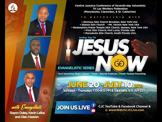 Jesus Now Online Evangelistic Series. Advert.