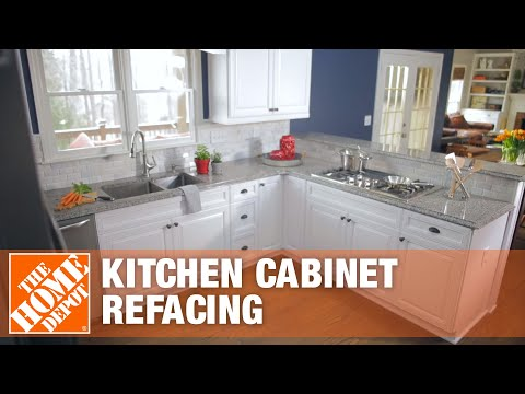 Kitchen Cabinet Refacing | The Home Depot - YouTube