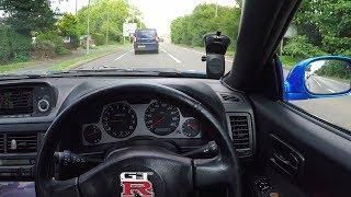 POV Drive In My Nissan Skyline R34 GTR! (Saw A CRASH!?)