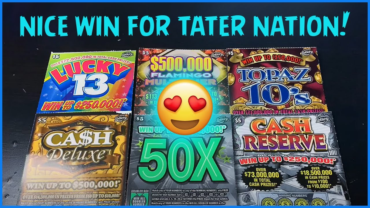 NICE WIN FOR TATER NATION!! PLAYING SIX DIFFERENT $5 TICKETS!
