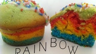 DIY | Rainbow Muffins ( Cupcakes ) ♥