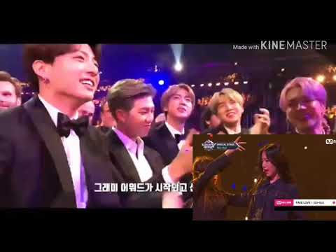 """BTS reaction to g - idle """"fake love"""" (FANMADE)"""