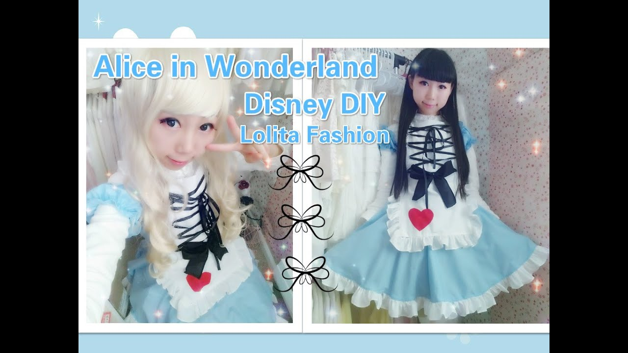 Disney Costume DIY- How to Make Alice in Wonderland Dress/Costume - Lolita Fashion - YouTube  sc 1 st  YouTube & Disney Costume DIY- How to Make Alice in Wonderland Dress/Costume ...