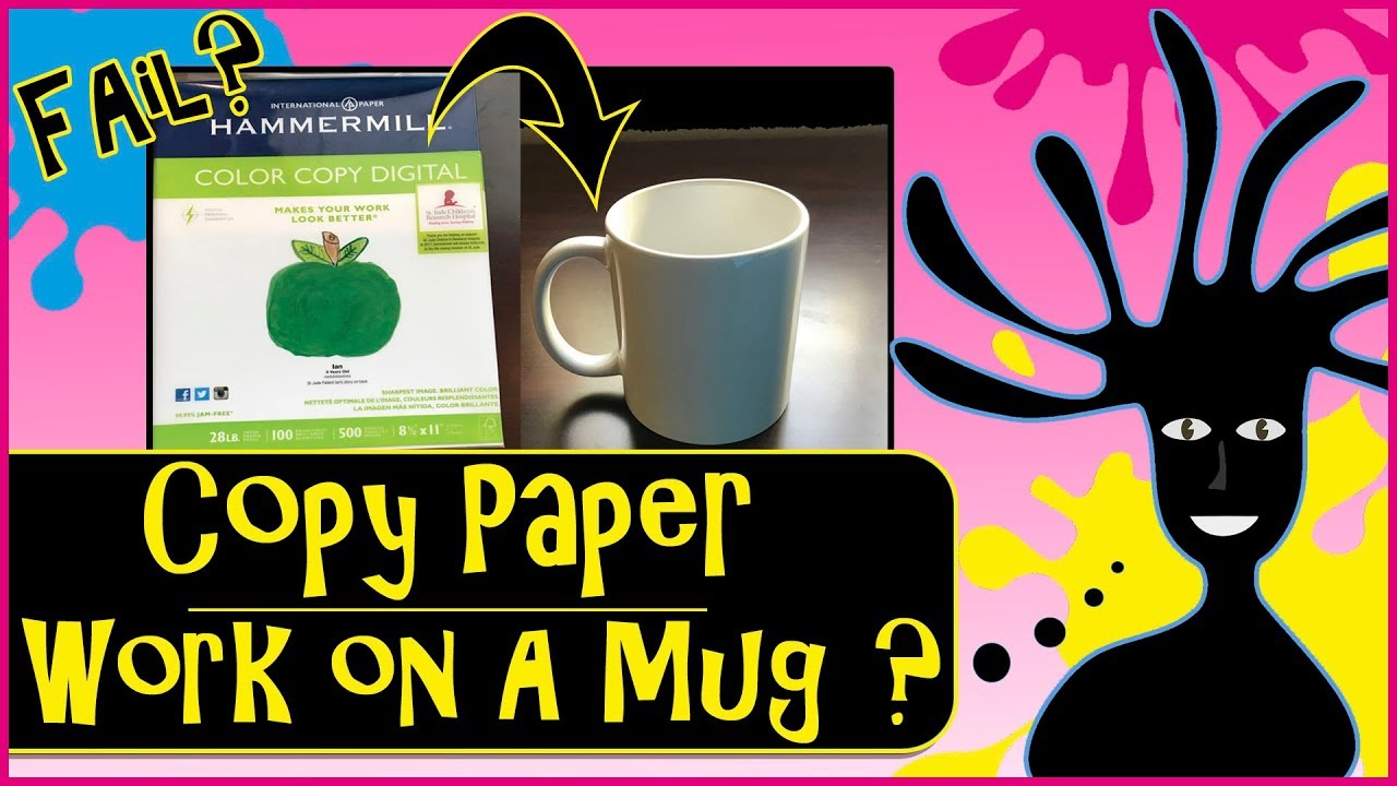Can You Sublimate Mugs Using Copy Paper? Dye Sublimation Printing Hacks   Will it work?