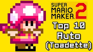 Super Mario Maker 2 Top 10 AUTO COURSES with Toadette (Switch)