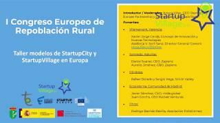 Taller modelos de StartupCity y StartupVillage en Europa