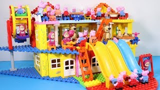 Peppa Pig Lego House Building With Water Slide Toys