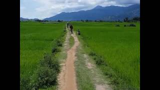 cycling in central highland of Vietnam