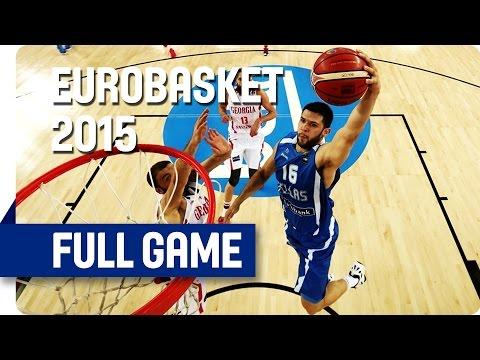 Georgia v Greece - Group C - Full Game - Eurobasket 2015