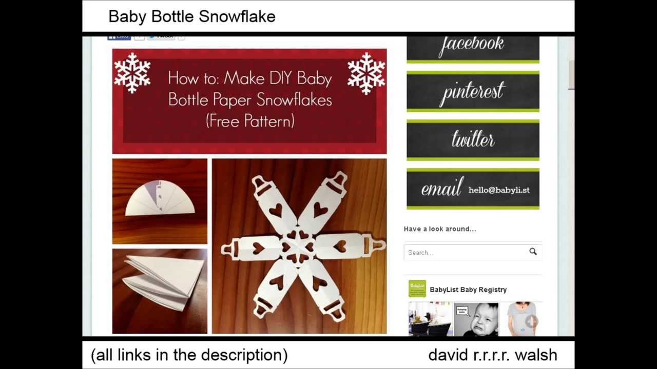 Kids Tool Box 62 Awesome Paper Snowflake Templates, Websites, Tutorials