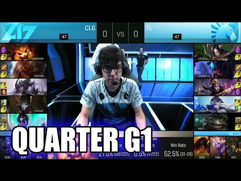 CLG vs Team Liquid | Game 1 Quarter Finals S6 NA LCS Summer 2016 PlayOffs | CLG vs TL G1 QF 1080p