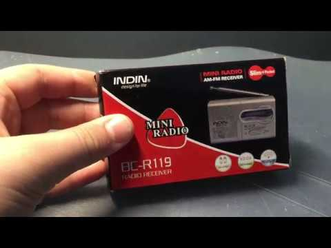 Indin BC-R119 Portable Pocket Radio Unboxing and Review