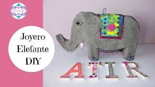 Joyero o cofre Elefante de cartón DIY