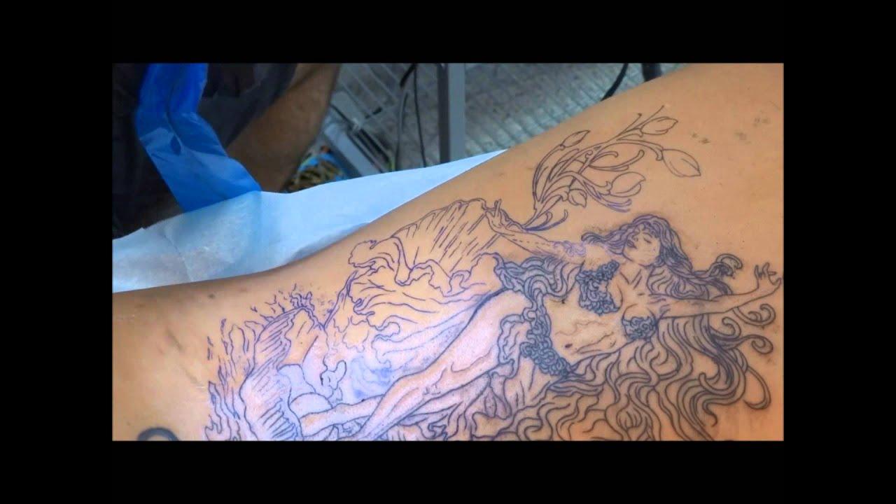 Venus tattoo goddess Aphrodite backpiece - YouTube