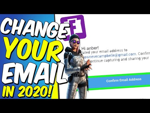 How To Change Your Epic Games Email / Fortnite Email - New Method (2020)