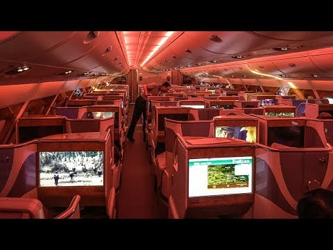 Giving Emirates A380 business class a try (LAX-DXB). WOW!