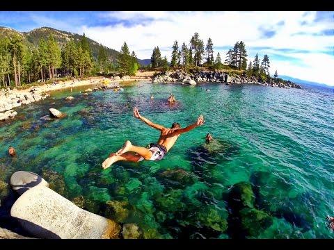 Road Trip Lake Tahoe Rock Jumping California USA GoPro Hero 3+ Black HD