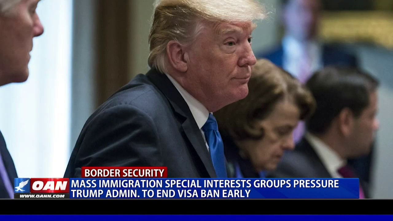 Mass immigration special interest groups pressure Trump admin. to end visa ban early