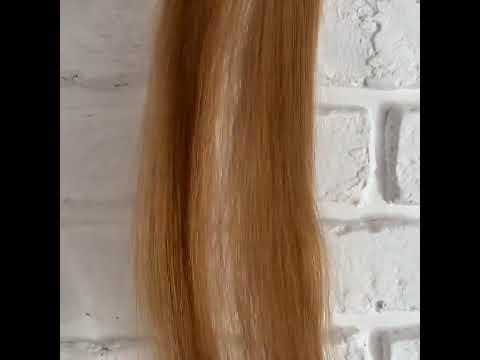 Струящиеся срез натуральных волос
