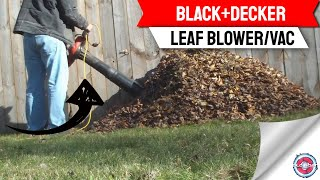 BLACK+DECKER 230 MPH 385 CFM 12-Amp Corded Electric 3-in-1 Handheld Leaf Blower/Vac