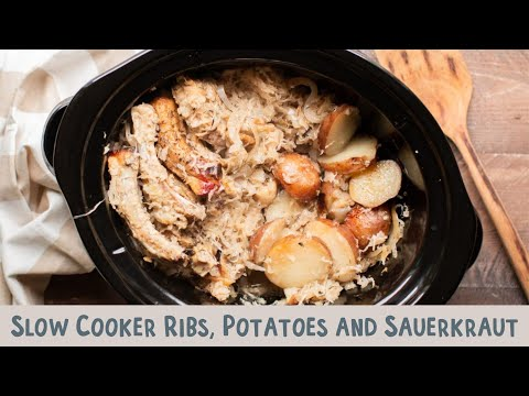 Slow Cooker Ribs, Potatoes And Sauerkraut