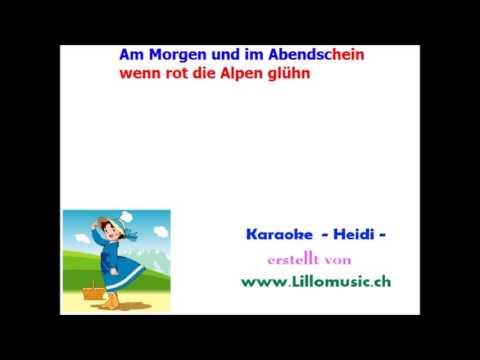 Heidi - Karaoke - Deutsch
