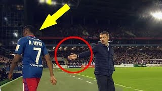 Football Players Angry After Substitution