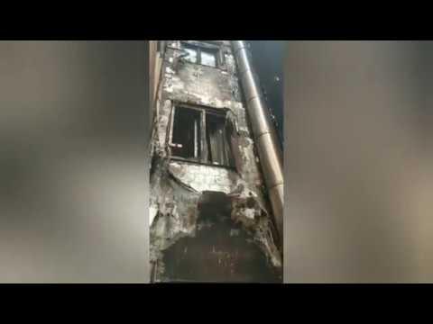 Viviendas afectadas por el incendio de Campolongo