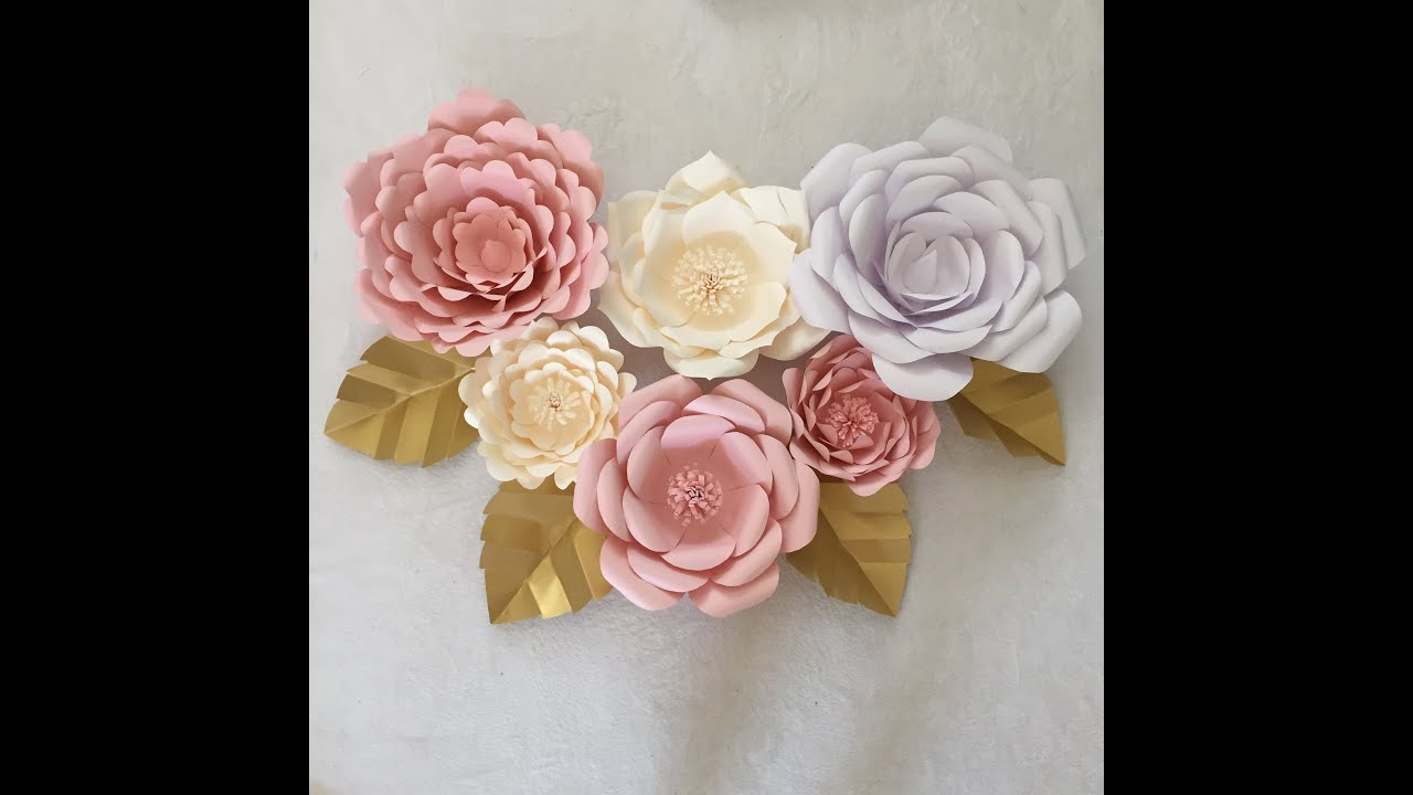 Giant Peony Paper Flower Template Beautiful Flowers 2018