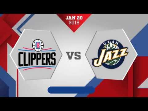 Los Angeles Clippers vs. Utah Jazz - January 20, 2018