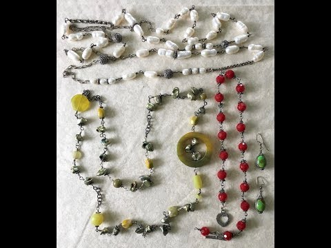 Beginner Jewelry Making #3 Wire Wrapping Beads (Necklace)