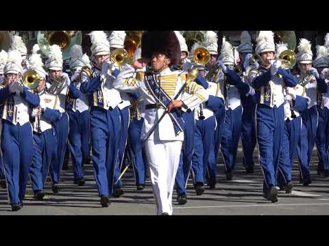 Benicia High School Panther Marching Band at Foothill Band Review 2017