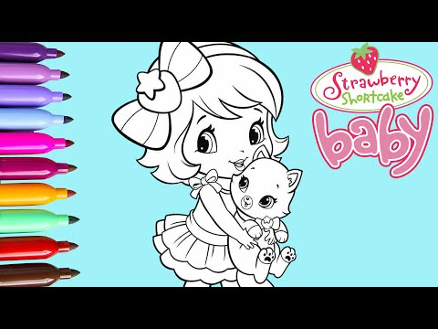 Coloring Baby Strawberry Shortcake Coloring Pages Learn Colors for kids and Toddlers Videos for Kids